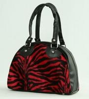 Bowlingbag Zebra red, small