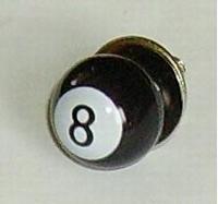 8-Ball bout en moer zwart