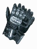 Handschoenen Leer met knokkel bescherming