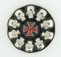 Buckle Skulls & Iron Cross round