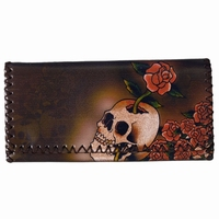 Lady Wallet Skull - Rose
