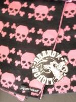 Liquor Brand sjaal  zwart - roze
