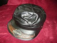 Harley Davidson  cap leer zonder ketting