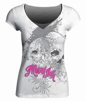 Miami Ink White Skull Girlie T-shirt