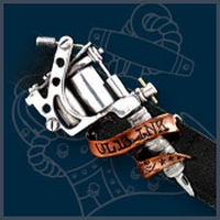 UL13 Alchemy Tattoo Gun buckle with belt
