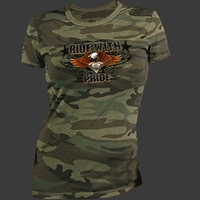 Camo shirt Ride with Pride