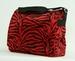 Fluffy tas Zebra rood met overslag
