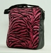 Fluffy tas Zebra roze