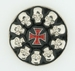 Buckle Skulls & Iron Cross round