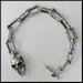 Bone schakel Skull armband