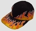 Cap flames black