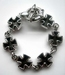 Iron cross armband zilver